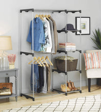 Load image into Gallery viewer, Discover the whitmor double rod freestanding closet heavy duty storage organizer