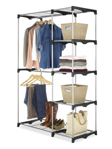 Discover whitmor double rod freestanding closet heavy duty storage organizer