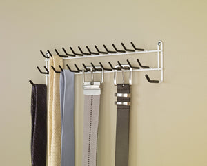 Heavy duty closetmaid 8051 tie and belt rack white