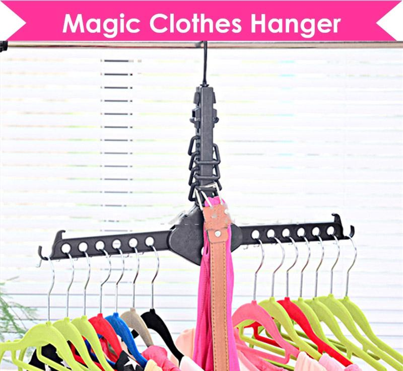 Magic Clothes Hanger Save Space Organiser Organizer Wardrobe Closet Packed Saver