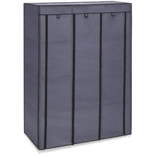 Load image into Gallery viewer, 10-Shelf Portable Fabric Wardrobe Closet Storage w/ Waterproof Cover