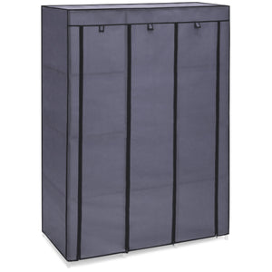 10-Shelf Portable Fabric Wardrobe Closet Storage w/ Waterproof Cover