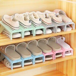 4Pcs Shoes Rack Hanger Rangement Folding Wardrobe Closet Organizer Stand Shoe Cabinet Holder Shoe