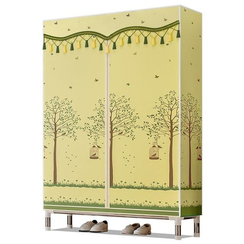 Fleece Fabric Cloth Storage Cabinet Wardrobe Clothing Rack Clothes Closet Folding Wardrobe Closet Clothes Storage Organizer