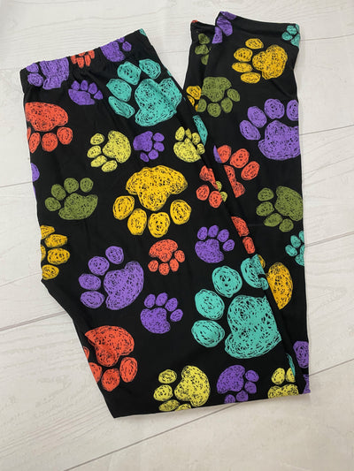 Bright Paw Prints  Classic  Size