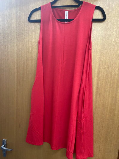 Cherry Red Singlet Tunic Size L