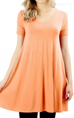 Deep Coral Tunic Size L