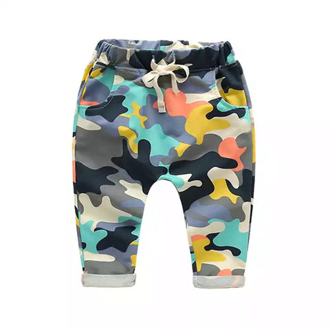 Color Block Camo Joggers