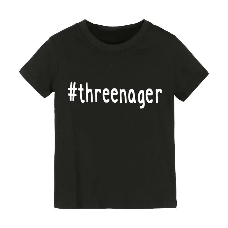 #Threenager Tee
