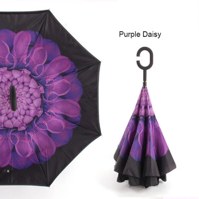 Jordan shops free shipping best product offers coupon  www.jordanshops.com we offer best collection of C Handle Windproof Reverse Folding Umbrella