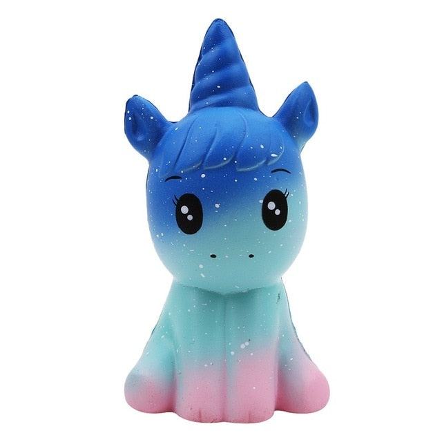 Jumbo Kawaii Colorful Galaxy Unicorn Squishy Doll