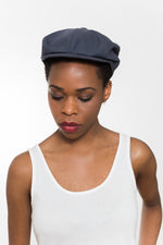 Navy Cotton Gatsby Cap Kinderwilder