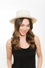 Natural Panama Boater Hat UK Kinderwilder