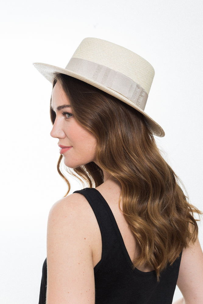 Natural Panama Boater Hat online Kinderwilder