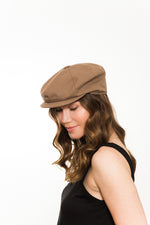 Tan Cotton Gatsby Cap For Women Kinderwilder