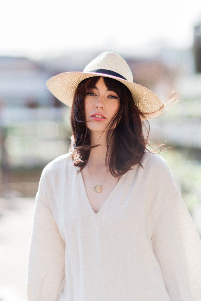 'Gina' Rollable Panama Hat