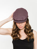 Organic Damson Denim Flat Cap UK Kinderwilder