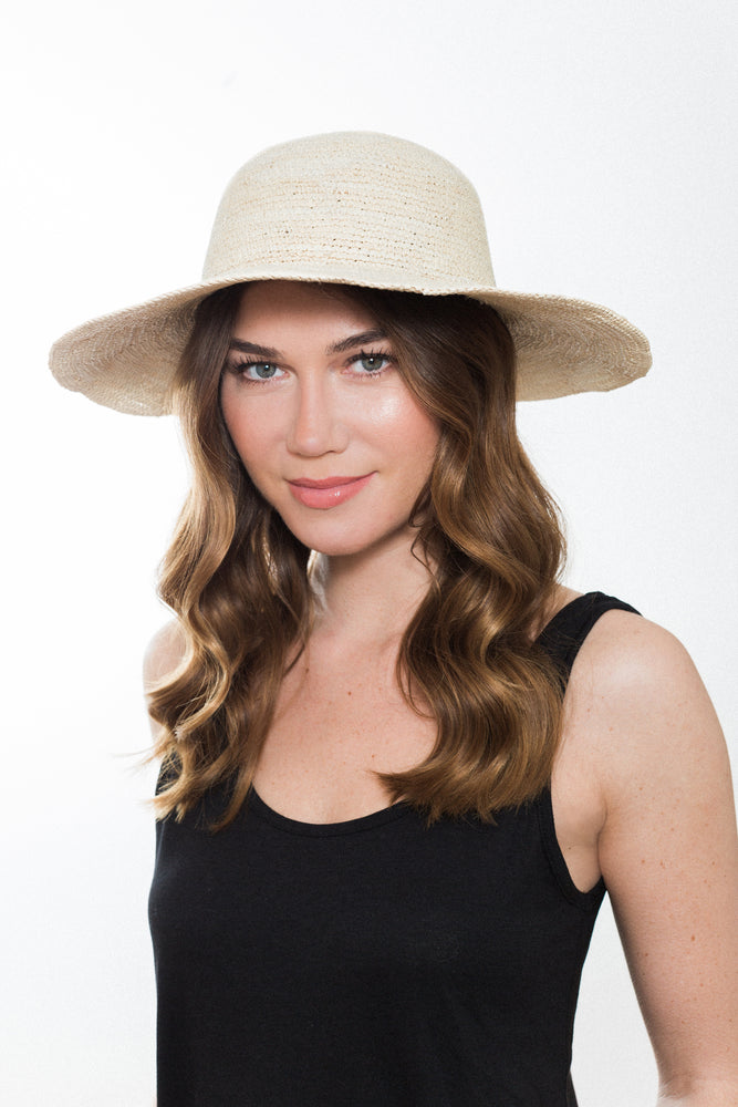 Crochet Natural Weave Wide Brim Sun Hat Kinderwilder