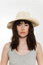 Vegan Summer crochet fedora sun hat Kinderwilder