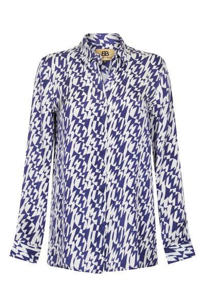 Baar and Bass - Zigzag Silk Willa Shirt