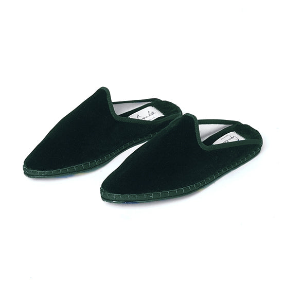 Capulette - Backless Slipper Jungle Green