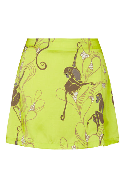 Baar and Bass - Monkey Silk Sienna Mini Skirt