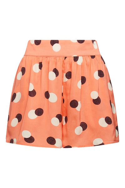 Baar and Bass - Orange Dot Silk Rio Shorts