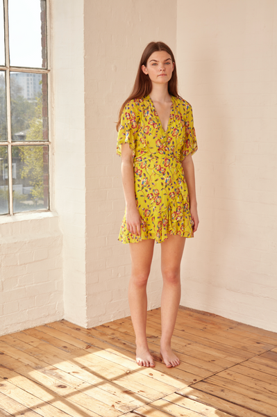 Tanya Taylor - Garden Print Brandy Dress Yellow