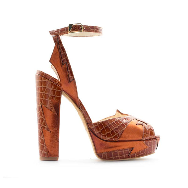 Terry De Havilland - Zia 70s Brown Heels