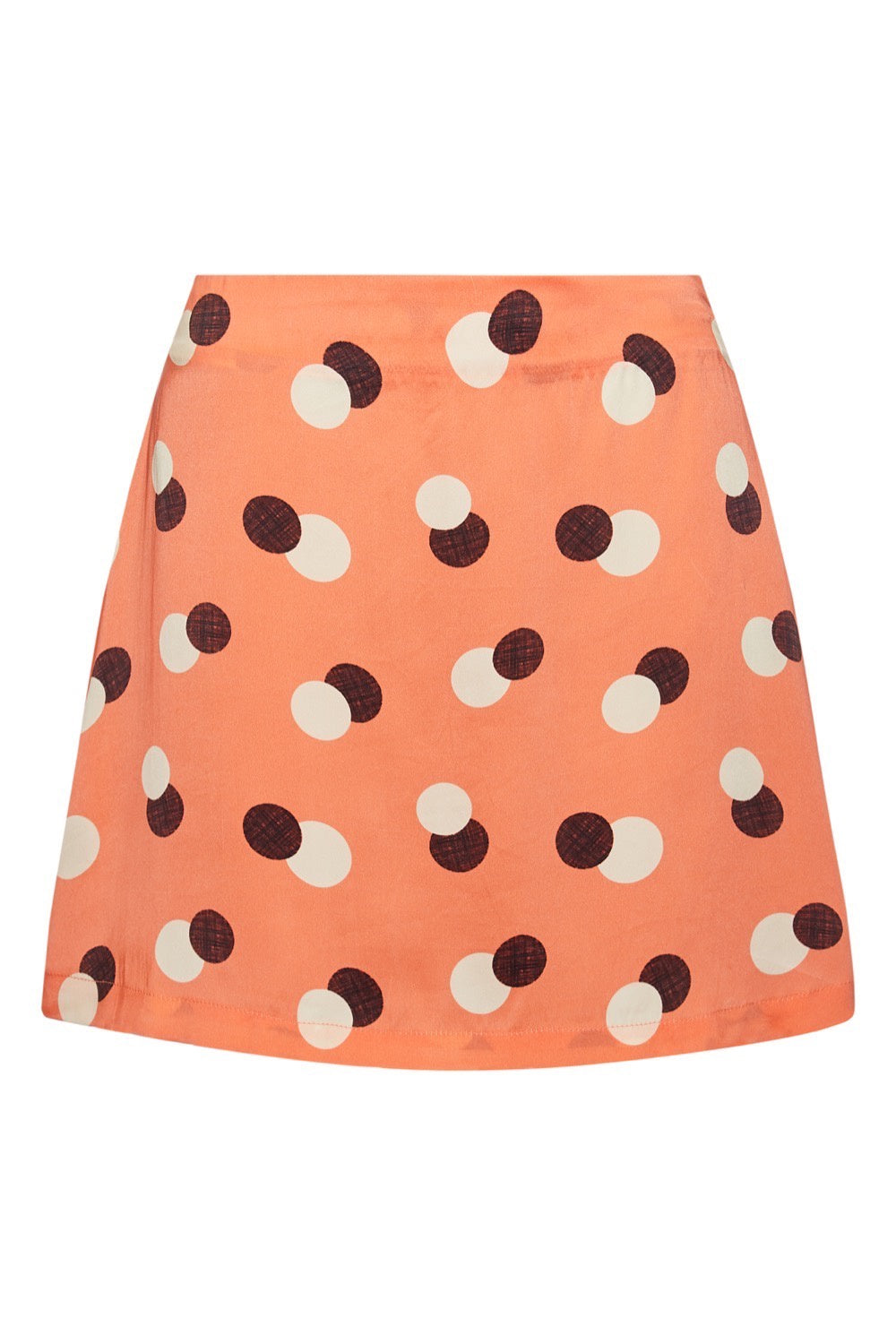 Baar and Bass - Orange Dot Silk Sienna Mini Skirt