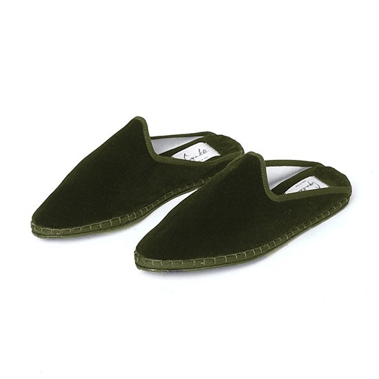 Capulette - Backless Slipper Olive Green