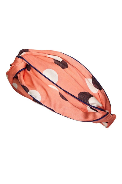 Baar and Bass - Orange Spot Silk Headband