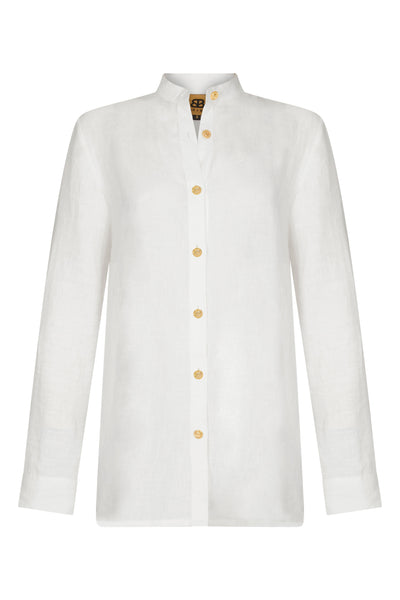 Baar and Bass - White Linen Cherie Shirt