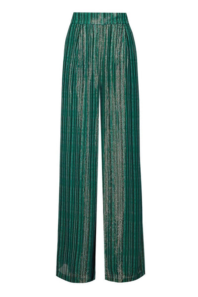 Baar and Bass - Green Stripe Lurex Suki Pants