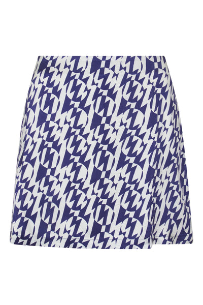 Baar and Bass - Zigzag Silk Sienna Mini Skirt