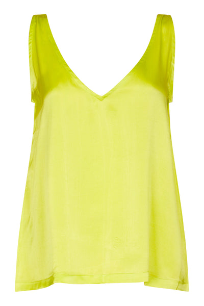 Baar and Bass - Lime Silk Ayda Top