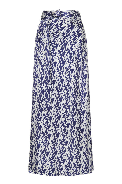 Baar and Bass - Zigzag Silk Freya Wrap Skirt