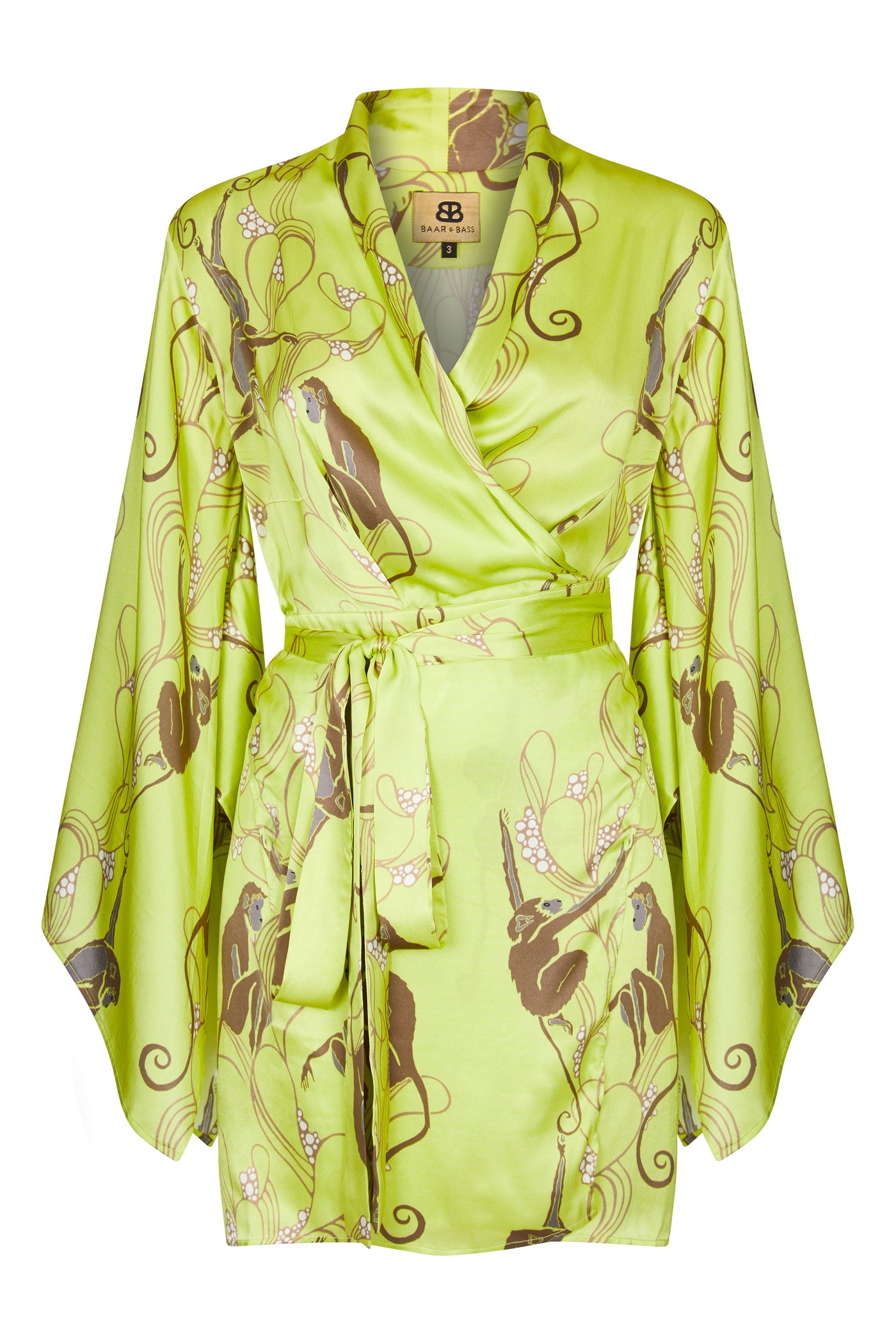 Baar and Bass - Monkey Silk Alextra Kimono Dress