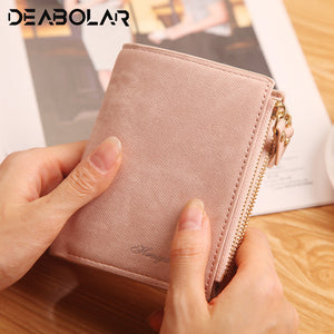 Fashion Top Quality Small Wallet Vegan Leather Purse Short Female Coin Wallet Zipper Clutch Coin Purse Credit Card