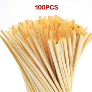 100PCS / Pack A+ Grade 20CM Wheat Straw Environmentally Friendly Straw Bar Kitchen Accessories