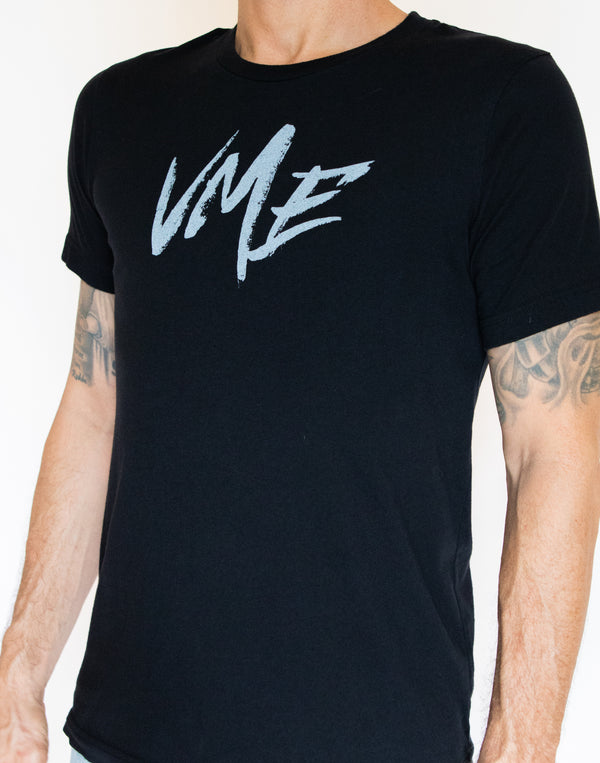 mens black VME logo t shirt