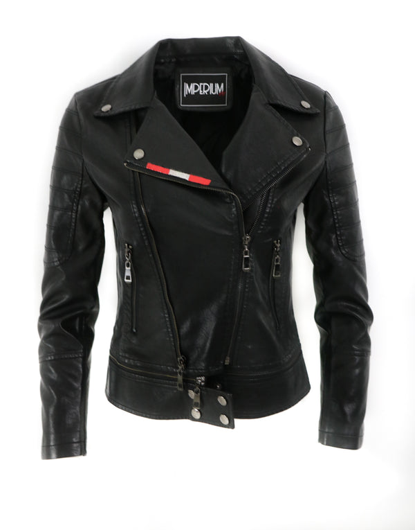 fitted moto jacket