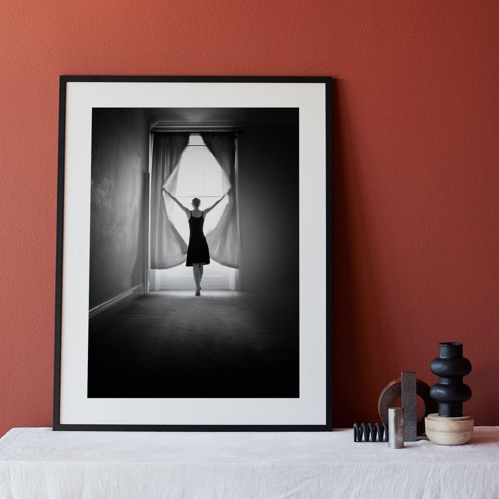 Poster Dancer in Window