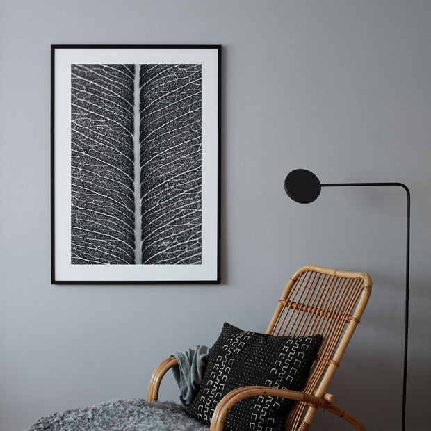 Poster Monochrome Leaf Structure