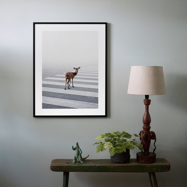 Poster Deer in fog