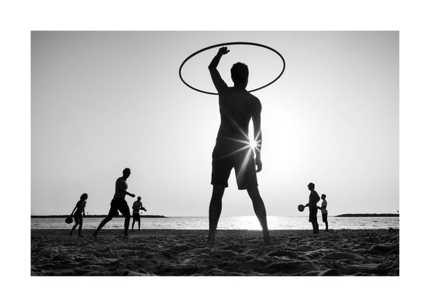 Poster Monochrome Beach Play