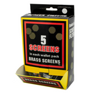 Generic - Brass Screens - 5 Pack