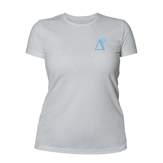 Delta 9 Women's T-Shirt - Triangle 9 Logo - Grey