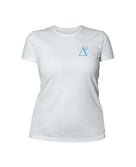 Delta 9 Women's T-Shirt - Triangle 9 Logo - White