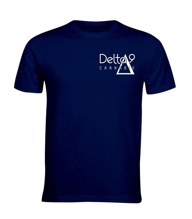 Delta 9 Men's T-Shirt - Delta 9 Cannabis Logo - Navy